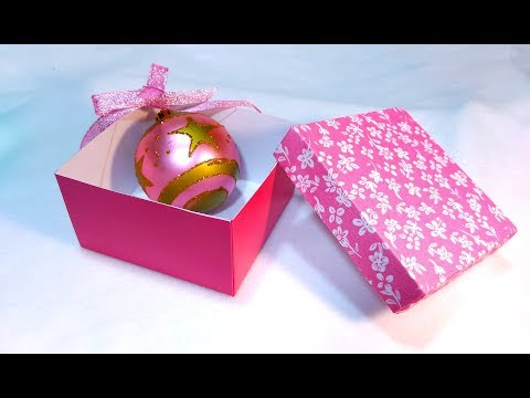 How to make an easy Gift box. Make your own decorative paper