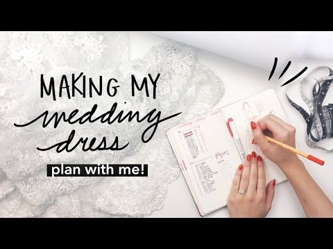 Plan With Me: DIY Wedding Dress in Bullet Journal | WITHWENDY