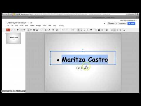 Creating PowerPoint Using Google Docs