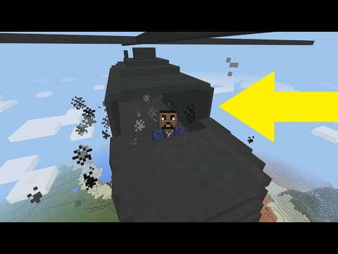 Flying a Helicopter in Minecraft Pocket Edition (Minecraft Addon)