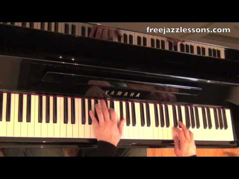 Autumn Leaves Blues Scale Piano Tutorial #2 Jazz, Blues, and Bebop Mixed Together