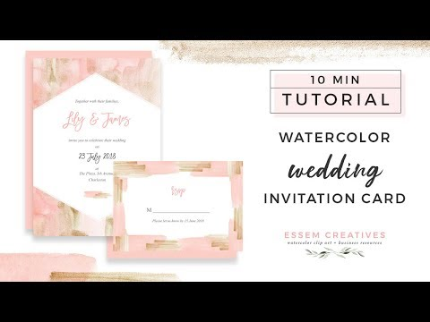 How to Make a Blush and Gold Watercolor Wedding Invitation on a Mac