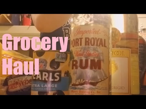 Grocery Haul | February 2018 | Shopping Local, Aldi, and the Liquor Store