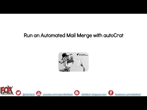 Run an Automated Mail Merge with autoCrat