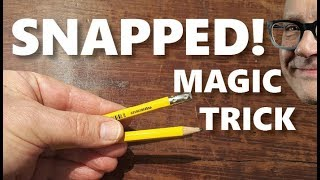 Learn Mind-Blowing Trick with Broken Pencil (Magic Secret REVEALED!)
