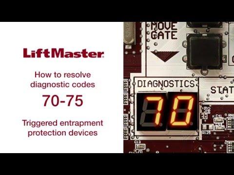 Liftmaster - Error Code 70 thru 75 - Gate Operator Troubleshooting