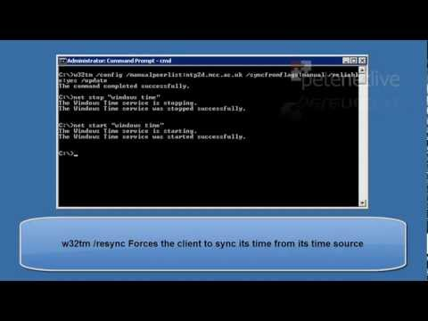 Microsoft Windows - Setting Server or Domain time from NTP.mp4