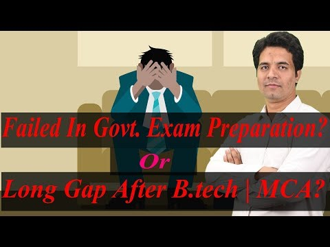 HINDI - Year Gap in your Resume Due to Govt. JOB Preparation | Family Business  ? Fix it Now..