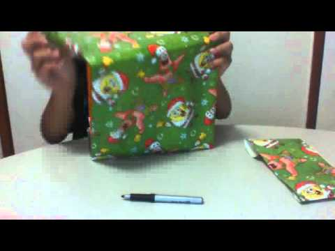 How to make a book cover out of wrapping paper