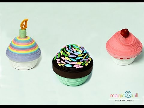 How To Make 3D Quilled Cupcake | Magic Quill