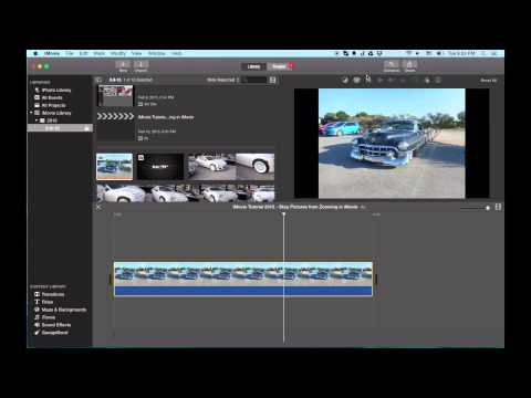 iMovie Tutorial 2015 - Stop Pictures from Zooming in iMovie