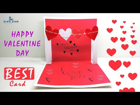 How to Make a Cute Homemade Pop Up Valentine's Card (VERY EASY to Make) Lina's Craft Club