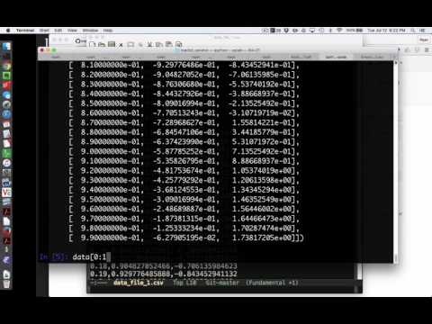 Intermediate Python 7: numpy's loadtxt and savetxt