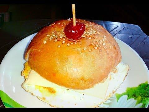 Egg Burger Recipe / Simple & Easy