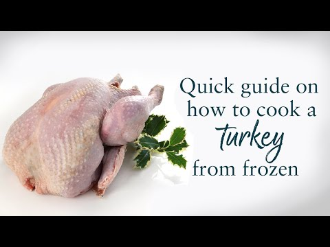 How to cook whole Turkey from frozen (clip)