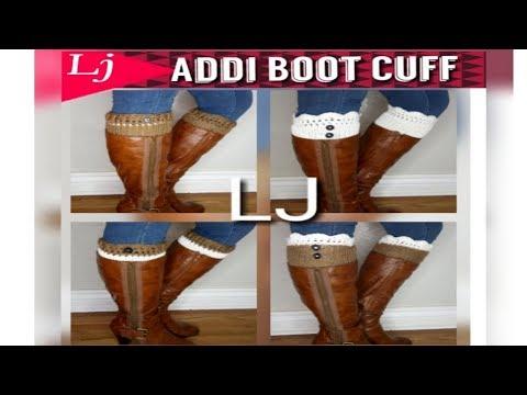 Addi Express 4 style boot cuff - One cuff 4 ways to wear