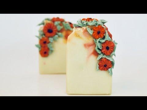 The Making & Embellishing of Amapola Cold Process Soap