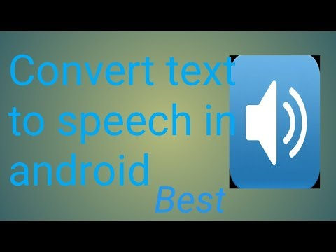 Text to speech |How to convert text to speech in android 2018