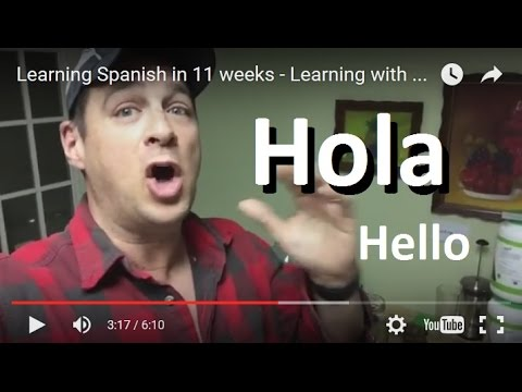 Learning Spanish in 11 weeks - Learning with Pimsleur Spanish