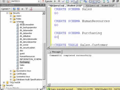 SQL 2008 Database Schemas (DBO)