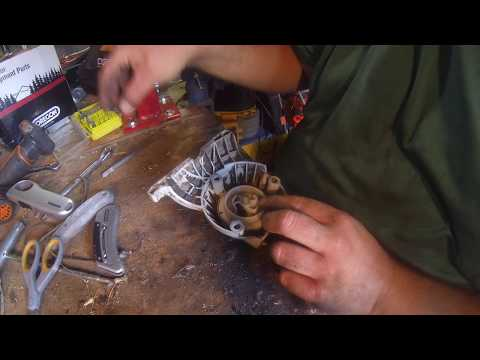 Replacing the pull cord on the Stihl FS90R String Trimmer