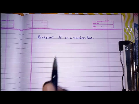 Represent root 5 on a number line ll irrational ll class 9 cbse chapter 1 root 2 root 3