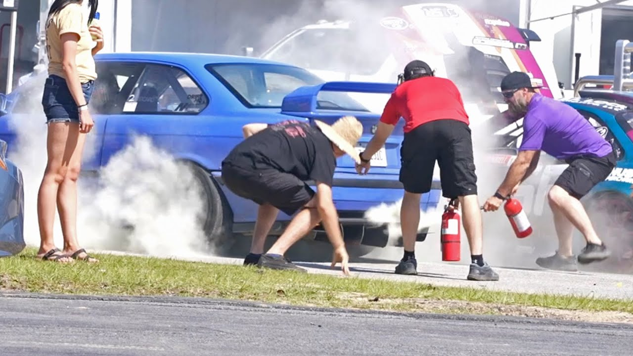 Set my E36 on Fire & Crashed @ Klutch Kickers Round 2