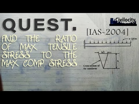 Ratio of Max. Tensile and Comp. Stress | IAS 2004 | Bending Stress in Beams