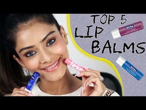 Top 5 Lip Balms | Lip Care Tutorial | Easy Lip Care Hacks | Trending Lip Balms | Foxy Makeup