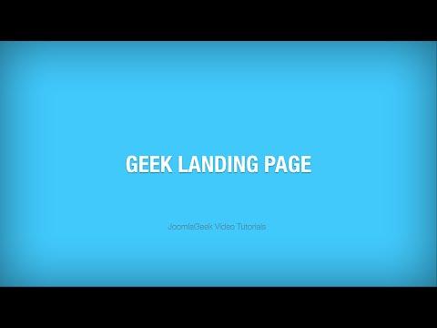 Geek Landing Page plugin - Tutorial