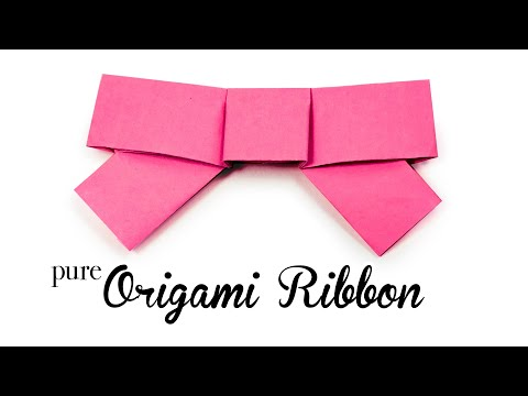Cute Origami Bow Tutorial 🎀 DIY 🎀 No Cutting 🎀