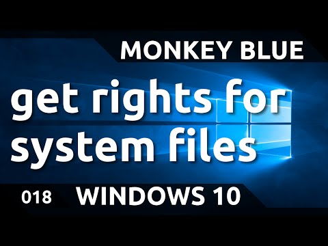 Windows 10: how to get rights to edit system files