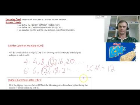 Finding the LCM and HCF