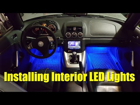 How to Install Interior LED Lights in Saturn Sky - Pontiac Solstice