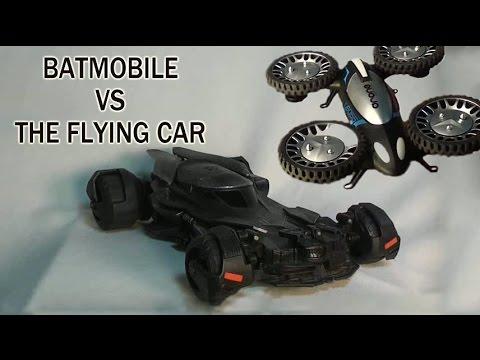 Batmobile VS Flying Car : Batman VS Super Man Official Airhogs RC Batmobile