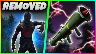7 MORE THINGS That Have Been REMOVED From Fortnite Battle Royale! | Guided Missile,OLD Dance!