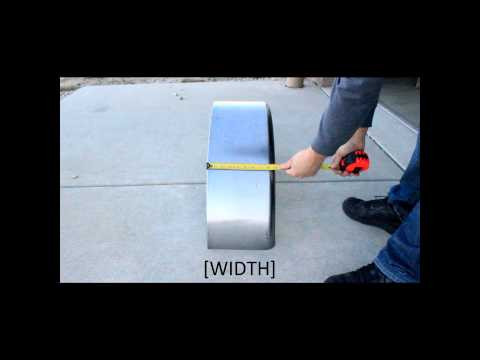 How to measure a Single Axle Trailer Fender