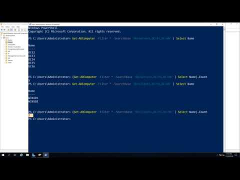 Using PowerShell - Count of computers in a specific OU
