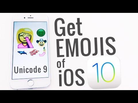Get iOS 10 emojis