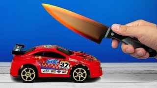 EXPERIMENT: Glowing 1000 degree KNIFE VS CAR