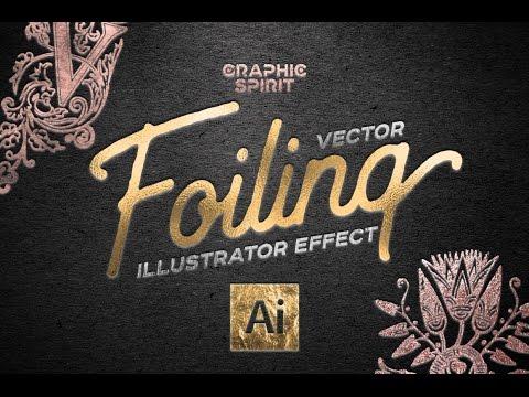 Vector Foiling Illustrator Effect