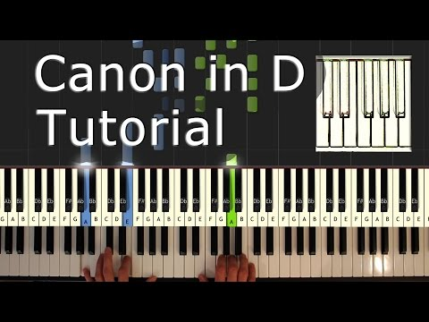 Canon in D - Piano Tutorial Easy - Pachelbel  - How To Play (Synthesia)