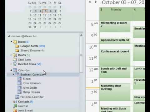 Share Calendar - How to share Outlook Calendar