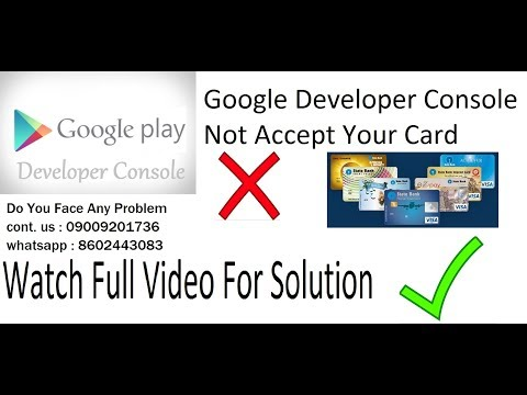 Google play developer account payment solution