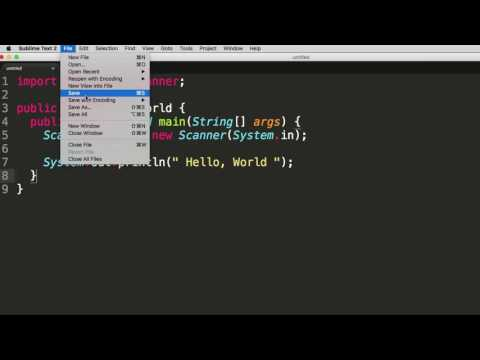 Saving a .java file Sublime Text (includes compile and run)