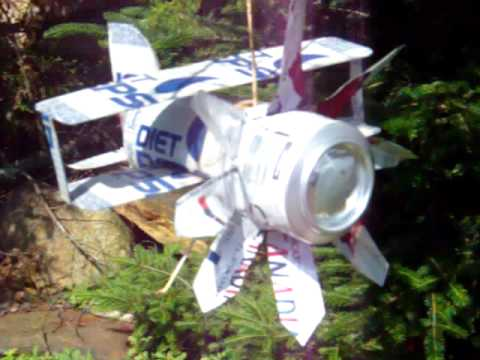 AWESOME WHIRLIGIG POP CAN PLANE