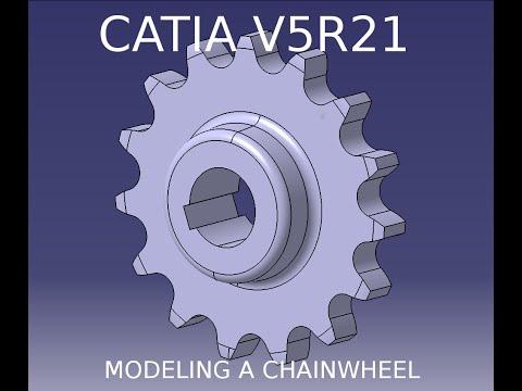 Catia V5R21: Modeling a chainwheel.