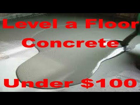 Level a Concrete Floor under $100 cheap