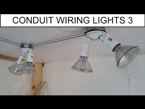 DIY - How To: Simple Wiring Light Addition in Conduit - Power through Switch to Lights