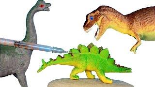 Download Динозавры для детей. Прививка. Мультик про динозавров. Развивающий мультик. Видео игрушки Мурзик ТВ Video